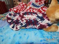 Dog Apparel Betsy Ross 100% Cotton Dress W/ruffle Skirt Sm