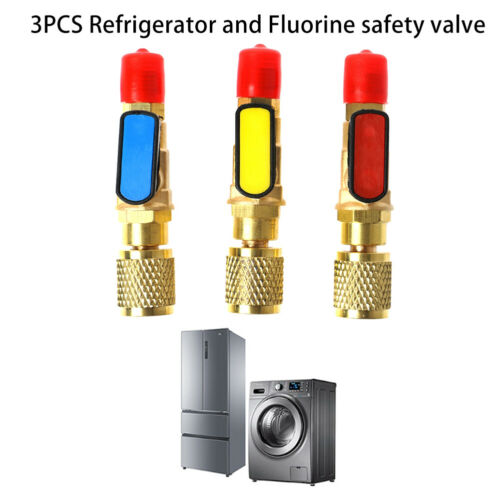 Charging hoses Straight Ball Valves 3pcs Tool AC Charging For R22 Refrigerant