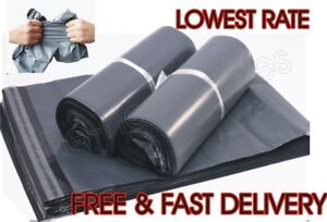 12x16 Grey Courier Bags Parcel Bags Postage Bags Poly Plastic Variable Quantity