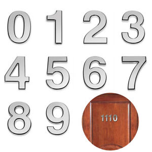 Silver Barton 4 Self-Adhesive Door House Numbers Street Address for Residence and Mailbox Signs Number 2