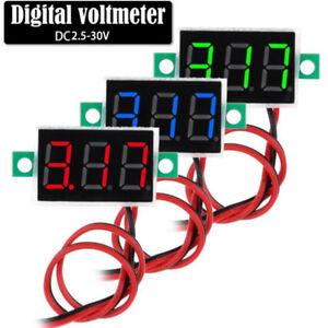 2-Wires-Mini-DC-2-5-30V-Voltmeter-LED-Panel-3-Digital-Display-Voltage-Meter-JR