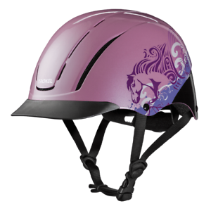 TROXEL NEW SPIRIT PINK DREAMSCAPE SAFETY RIDING HELMET LOW PROFILE HORSE