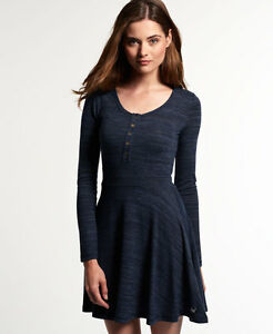 19e839e238 Image is loading New-Womens-Superdry-Essential-Twist-Yarn-Skater-Dress-
