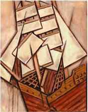 TOMMERVIK NAUTICAL SHIP ART PIRATE SHIP SHIPWRECK SHIPWRECKED BOAT PAINTING