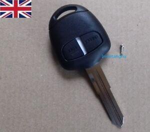 New-Uncut-Remote-Key-Fob-2-Button-for-Mitsubishi-Outlander-L200-Shogun-Lancer