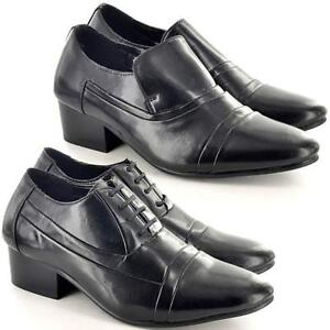 Mens-Smart-Shoes-Cuban-Heels-Formal-Wedding-Dress-Party-Office-Dinner-Suit-Size