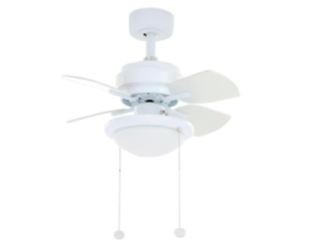 Details About White Ceiling Fan 24 In Small Dome Style Light 3 Sd Laundry Room Hallway New