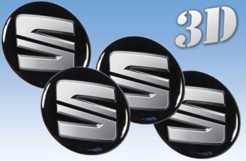 Wheel stickers Seat all size Centre Cap Logo Badge Wheel Trims 3d 58mm