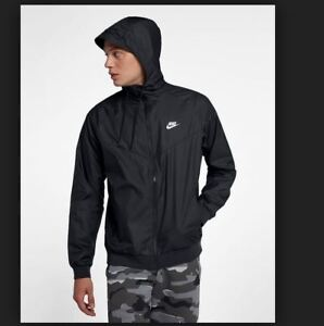 cab7becceca4 NEW MENS 2XL XXL NIKE NSW WINDRUNNER NFS JACKET HOODIE BLACK WHITE ...