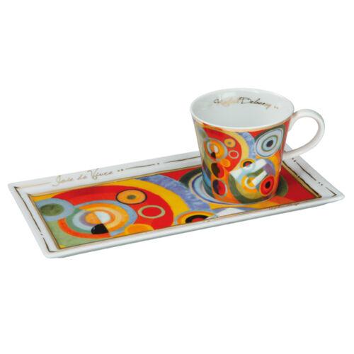 Goebel joie de vivre offre Robert Delannay Artis Orbis Tasse Kaffeeset NEUF