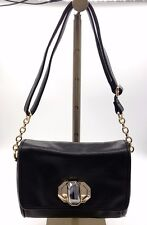 7bb22397fb5 DEUX LUX Black Pebbled Leather Gold Tone Chain Hardware Adj Strap Shoulder  Bag