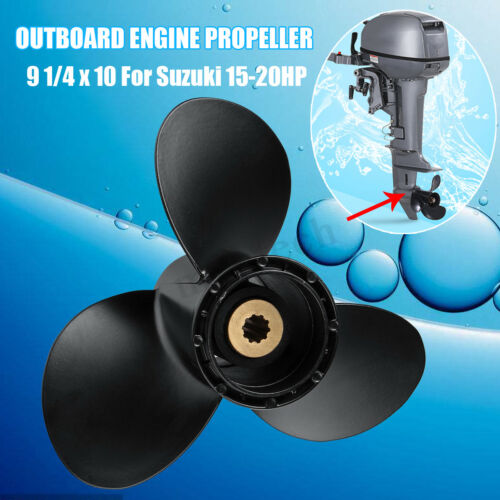 15-20HP  9 1//4 x 10 Size Engine Propeller For Marine Boat Suzuki Outboard