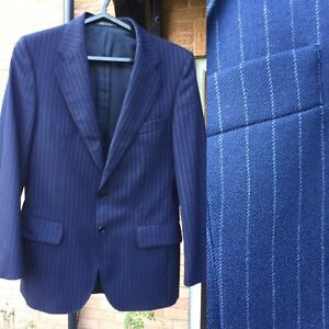 Vintage Austin Reed Men S Jacket Navy Chest 40 Pinstripe Ebay