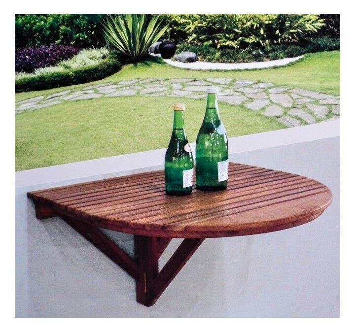 Teca muro mesa plegable mesa de muro mesa plegable mesa de comedor mesa de cocina mesa de balcón