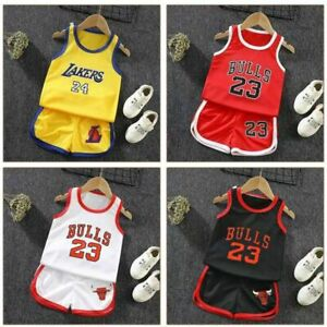Summer Kids Baby Boys Basketball Clothes Child Boy Sports Outfits Sets Jersey