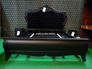Uk Stock 6 Super King Size Black Gothic Mahogany Designer French