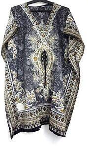 Kaftan-Short-Dress-Hippy-Boho-Maxi-Plus-Size-Women-Caftan-Summer-Night-Gown