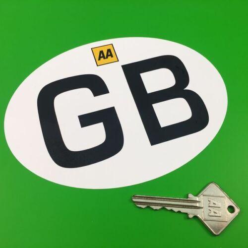 "GB AA logo Italian Job Style Car Motorcycle STICKER 6/"" Mini ID Plate Nationality"