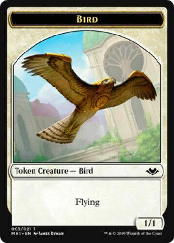 Folha Bird Token x4 moderno HORIZONS Magic The Gathering Mtg 4 Cartas