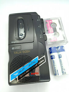 Sanyo-TRC-520M-Talk-Book-MicroCassette-Voice-Recorder-Dictaphone-Dictation-Black