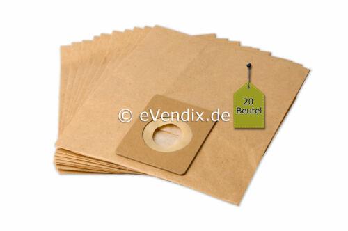 20 Staubsaugerbeutel passend für TEC 5115-5116