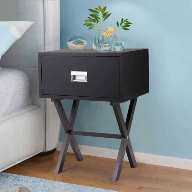 End Table Living Side Sofa Bedroom Nightstand Bedside Wood Furniture Oak Grey