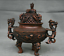 8-8-034-Marked-Old-China-Qing-Red-Copper-Dynasty-Dragon-Beast-Incense-Burner-Censer thumbnail 5
