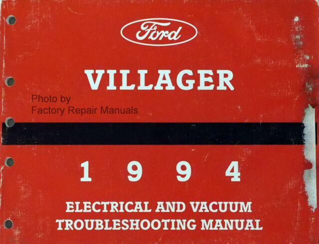 1994 Mercury Villager Electrical Vacuum Troubleshooting