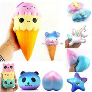 Jumbo-matschig-bunte-langsam-steigenden-Cute-Kids-Squeeze-Spielzeug-Druckentlastung-soft