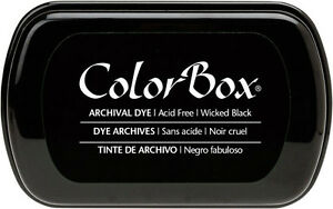 Image Is Loading Wicked Black ARCHIVAL DYE Colorbox INKPAD Permanent Ink