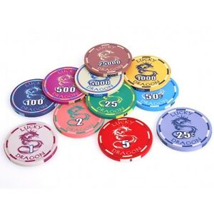 LUCKY-DRAGON-POKER-CHIPS-CERAMIC-SUNFLY-CASINO-10g-39mm-HIGH-QUALITY-SAMPLE-SET