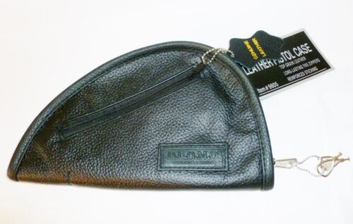 "YKK Zippers Fully Padded Black Locking Leather Pistol Rug Case 9.5 x 5/"""