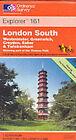 London South: Westminster, Greenwich, Croydon by Ordnance Survey (Sheet map, folded, 2001)
