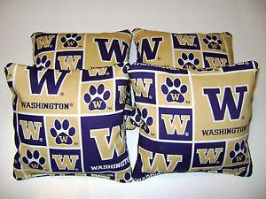 Fantastic Details About University Of Washington Huskies Cornhole Bean Bags Toss Game 4 Tailgate Toss Lamtechconsult Wood Chair Design Ideas Lamtechconsultcom