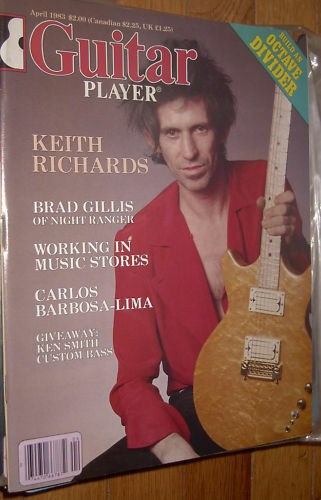 Guitar Player April 1983 Keith Richards
