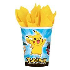 8 pck Pokemon Paper Cups 266ml Pikachu Birthday Party Tableware