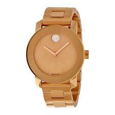Movado Ladies Bold Bronze Plated Bracelet Quartz Watch 3600335