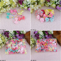 Wholesale Baby Girl Hair Bobble Grosgrain Bow Floral Toddler Girls Elastic Bands