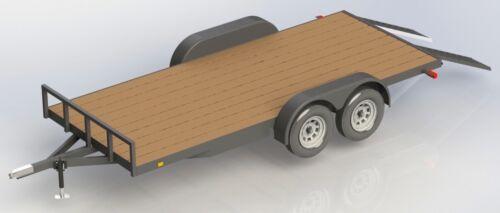 CAR TRAILER PLANS 8X16 WOOD DECK CAR TRAILER PLANS