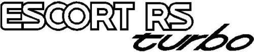 Ford Escort serie 2 II RS TURBO TRASERO calcomanías Mark IV 4