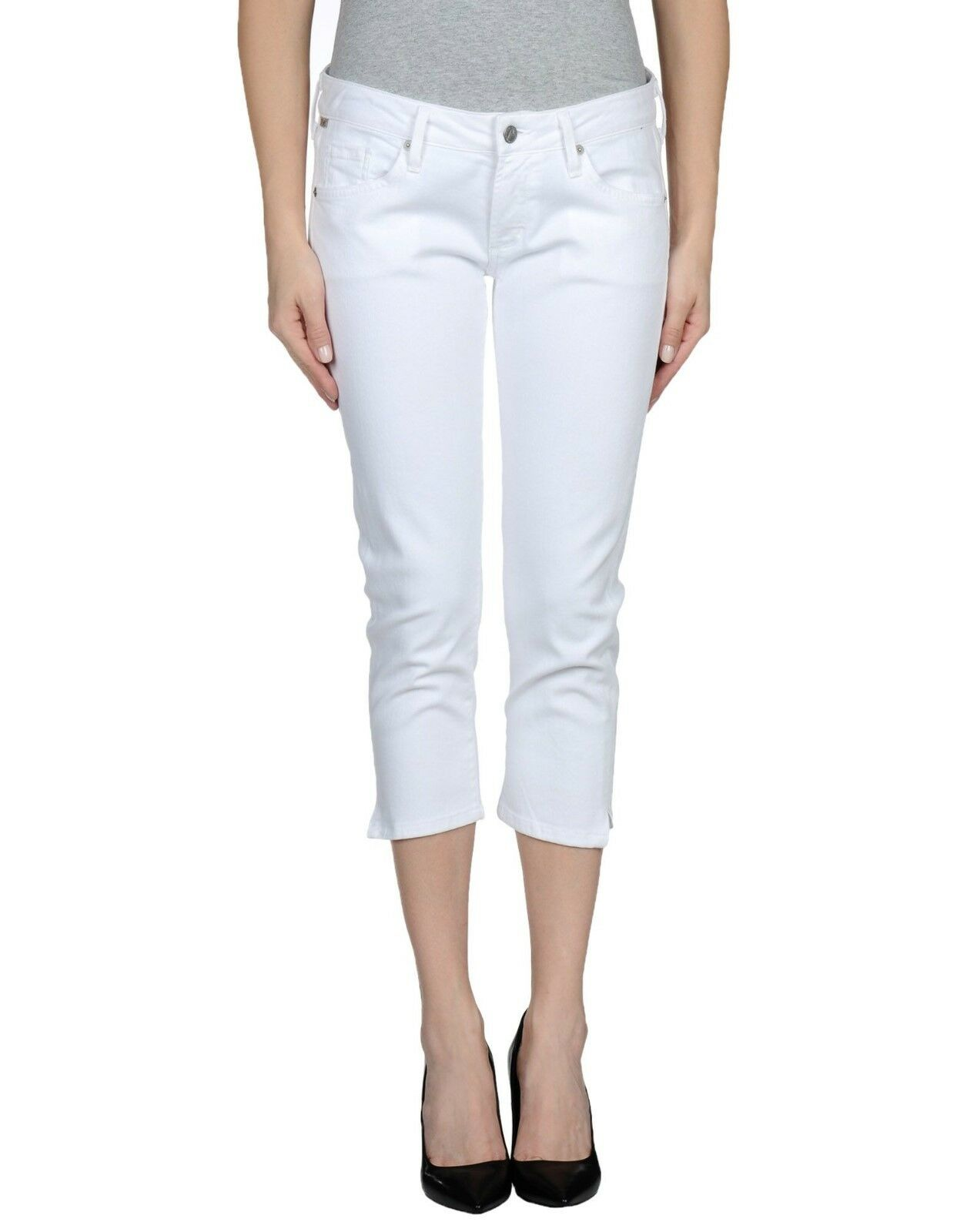 Citizens of Humanity Jerome Dahan White Denim Capris Racer Skinny Pants- W34 L21