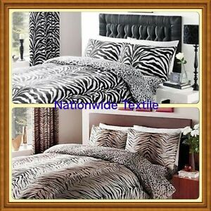 Image Is Loading ZEBRA Amp TIGER SKIN DUVET COVERS PILLOW CASES