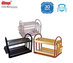 2-Tier-Round-Plastic-Bowl-Kitchen-Plate-Dish-Drainer-Utensil-Cutlery-Rack-Holder