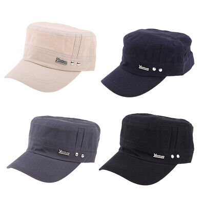 Men Women Fashion Army Cap Cadet Military Navy Sailor Flat Top Cotton Casual Hat