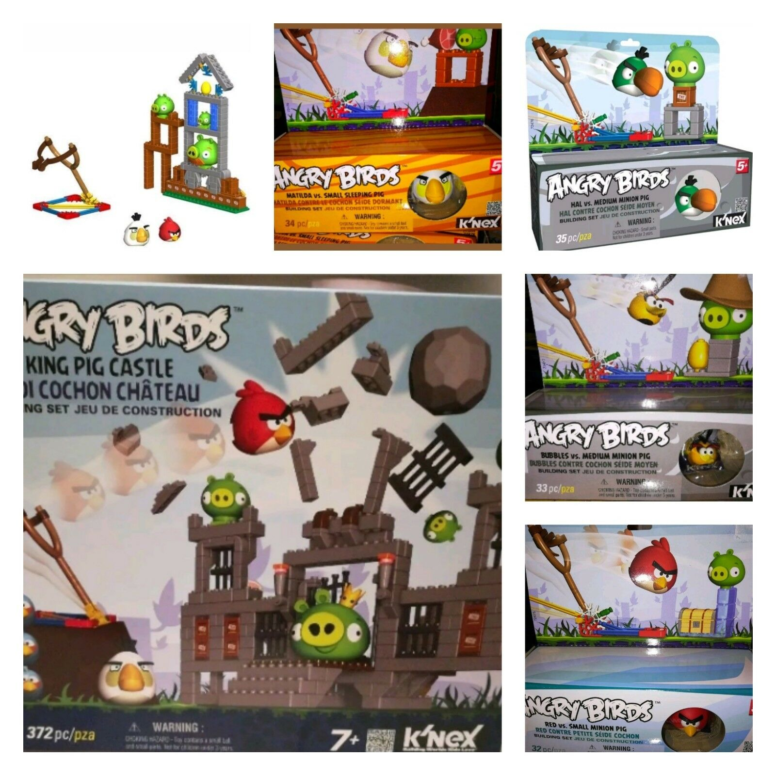 K'NEX Angry Birds Mini Figures Building Set roi cochon Angry Birds Toys