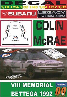 06 OF GREAT BRITAIN 1998 DnF DECAL SUBARU IMPREZA S4 WRC ´98 C.MCRAE R