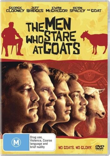 1 of 1 - THE MEN WHO STARE AT GOATS DVD, jEFF bRIDGES, gEORGE cLOONEY