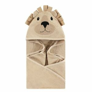 Hudson Baby Animal Face Hooded Towel, Lion