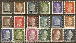 Stamp-Germany-Ukraine-Mi-1-18-Set-1941-WWII-War-3rd-Reich-Hitler-Occupation-MNG