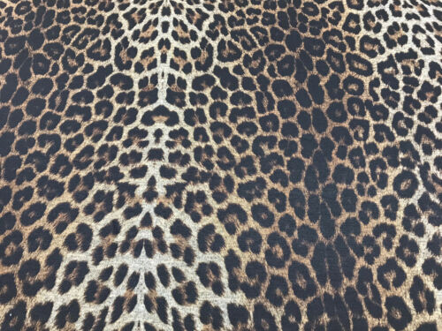 2 Mtr Polyester Leopard Print 2 way Stretch Spandex Fabric Swimwear Dresses Tops